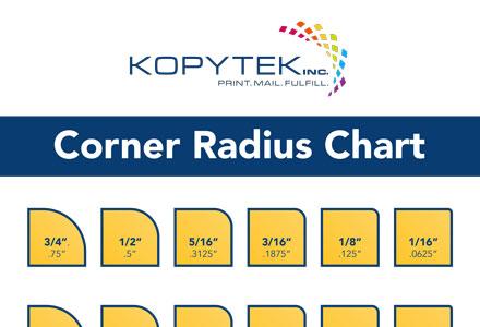 Kopytek Corner Radius Chart